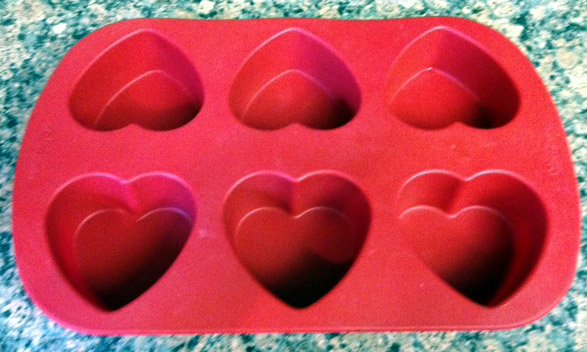 Silicon heart mold