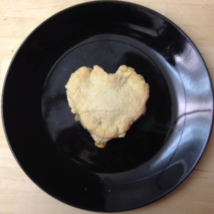 Heart-shaped mini chicken pot pie